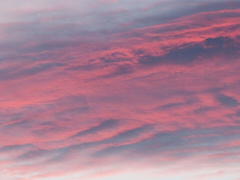 Red sunset clouds. – Slide 8