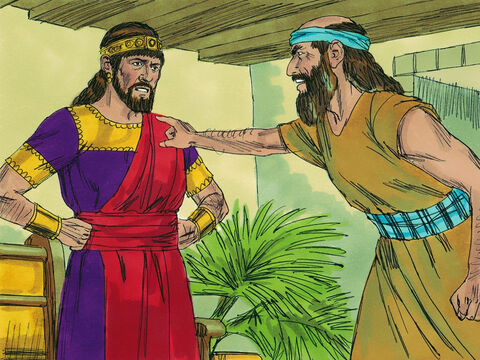 The Lord sent Zechariah, the son of Jehoiada to warn King Joash. He announced, 'As you have forsaken the Lord, he has forsaken you.' This made Joash very angry and he ordered Zechariah to be taken out and stoned to death. – Slide 11