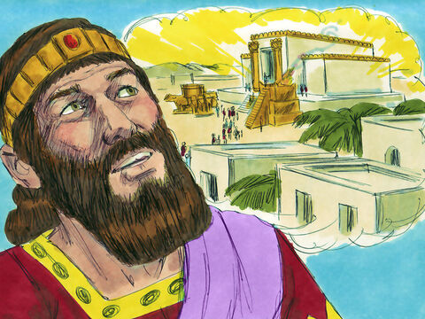 Manasseh knew that when the Assyrians had besieged the city of Jerusalem, his father Hezekiah had prayed to God for help. And God had delivered them from their enemies. He also knew that his father had cleansed the Temple and the land of idols and encouraged everyone to trust in God alone. – Slide 3
