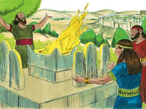 He encouraged people to rebuild the altars to false gods that his father had destroyed. These altars appeared on the high places throughout the land. – Slide 6