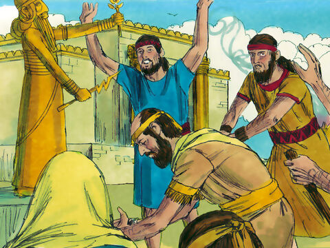 Manasseh went from bad to worse, even putting altars to false gods in the Temple in Jerusalem – the very place God said His Name would be forever. The King encouraged people to worship the planets and stars. Again, this was something God had forbidden. – Slide 9