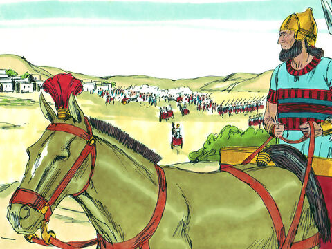 The Lord warned Manasseh and the people of Judah but they refused to listen. So God acted in judgement and brought the army commanders of the King of Assyrian to invade the land. – Slide 11