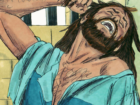 Manasseh was put in prison and remained there for 12 years. He was in 'great distress'. – Slide 15