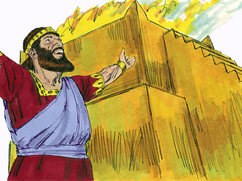 King Manasseh restored the altar to God in the Temple and made sacrifices and peace offerings on it. – Slide 21
