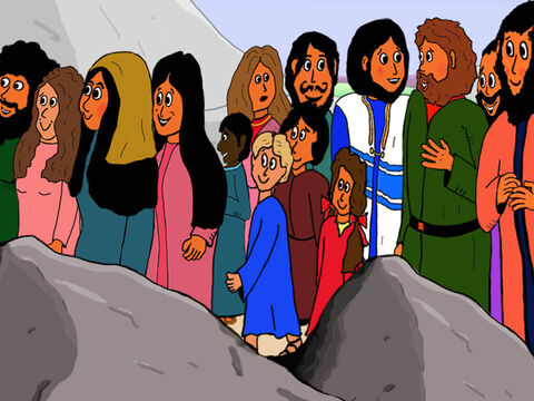 Further up the road Jesus head his cry for help. But rather than ignore the blind man He sent His disciples to bring Bartimaeus to Him. – Slide 16