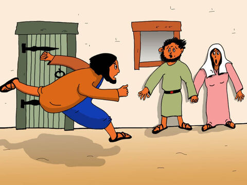 Jairus knew that Jesus could help his very ill daughter, so he ran to the shore as fast he could. – Slide 4