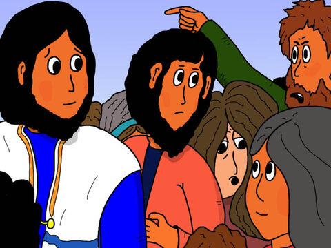 Peter, who was one of Jesus' twelve disciples replied. 'There are so many in this crowd pushing and shoving. How can you ask, 'Who touched me?' – Slide 13