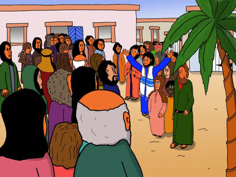 Jesus spoke to them, 'Why all this commotion and wailing? To me, the girl is not dead but sleeping. – Slide 21