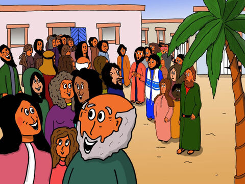 All the relatives and mourners started laughing at Jesus! They knew the girl was dead. – Slide 22