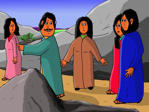 But later, after travelling all day, they stopped. They called out for Jesus. But there was no reply. Where was He? They asked people if they had seen Jesus. But they all shook their heads. – Slide 18