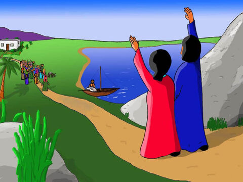 'Have you seen Jesus,' shouted Mary and Joseph to those travelling at the front. – Slide 19