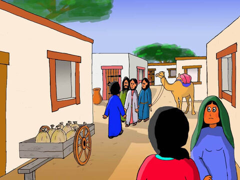The next day they arrived back in Jerusalem tired and exhausted. They went through the narrow streets but could not see Jesus anywhere. They searched all day but could not find Him. – Slide 21