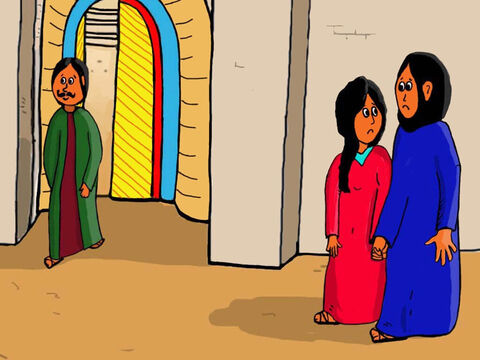 Jesus had now been missing for three days and Mary and Joseph were so worried. They decided to go to the Temple and ask God to find Him. – Slide 23
