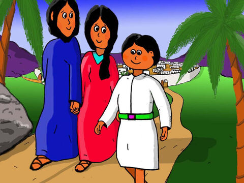 Jesus wisely knew God's command that we must all obey our parents, so he set off at once with Mary and Joseph on the trip back to Nazareth. – Slide 29