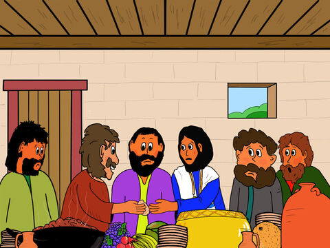 Jesus then dipped some bread in a dish and handed it to Judas, who gladly received it. <br/>The Bible says that Satan entered Judas and he immediately got up and went out to betray Jesus. – Slide 18
