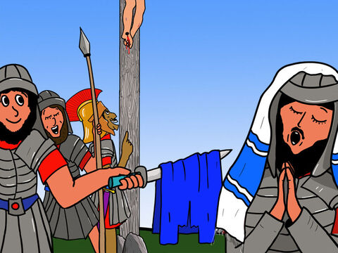 The soldiers insulted Jesus  for being the 'King of the Jews' … – Slide 21