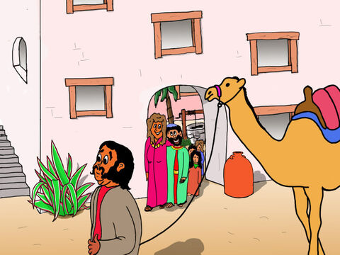 Zacchaeus was very rich and lived with his family in one of the largest and finest houses in Jericho. – Slide 2
