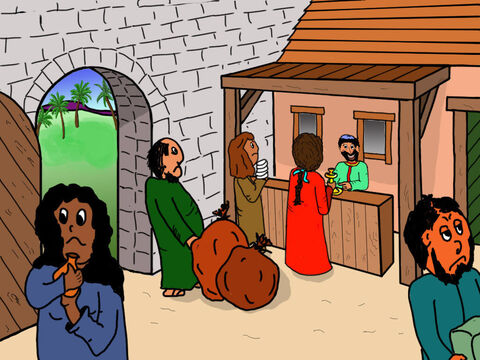 Taxes were collected by the customs officers and the man in charge of the customs officers was Zacchaeus. – Slide 4