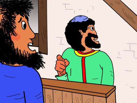'Get me a soldier,' Zacchaeus ordered. 'There is a man here who refuses to pay his taxes!' – Slide 8