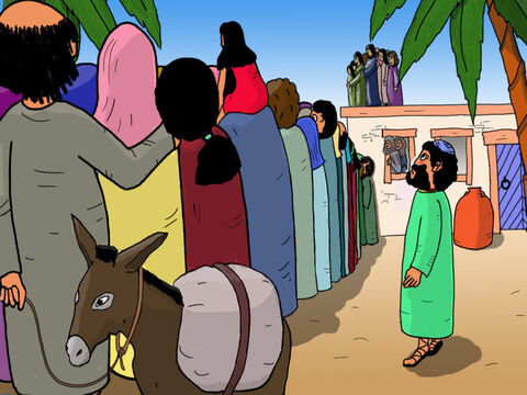 Everyone in Jericho wanted to see Jesus including Zacchaeus. But Zacchaeus was very short and could not see over the large crowds surrounding Jesus. Even if he stood on tip-toe he could not see Jesus. – Slide 13