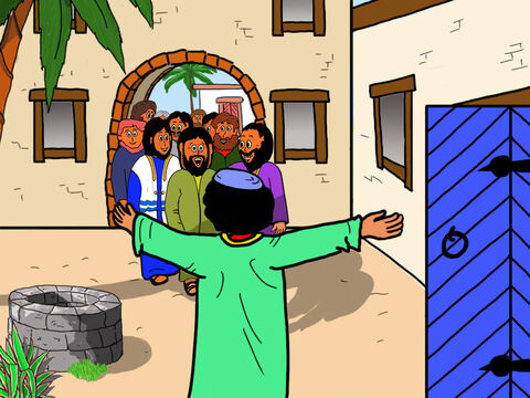 But Jesus and His disciples did not care what people thought about Zacchaeus. They were happy to go to the house of this unpopular man who has stolen money. – Slide 31