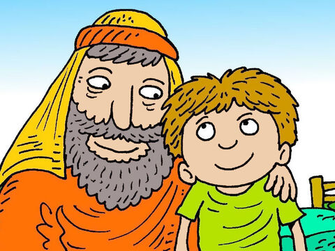 Abraham loved God. Abraham and his wife Sarah had waited a long time to have a son of their own. Abraham loved Isaac more than anything else in the world and thanked God for him. – Slide 2