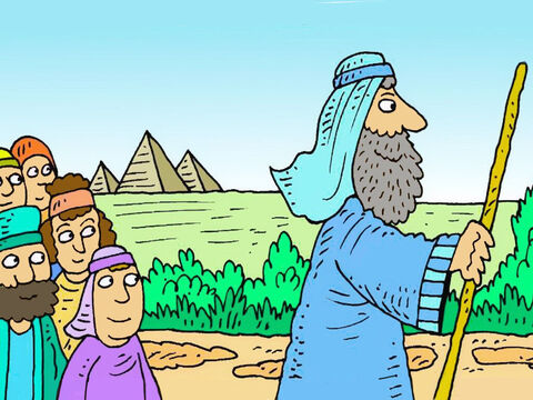 Then God would send them to live in their own country that He would give them. God gave Abram a new name, 'Abraham.' – Slide 5