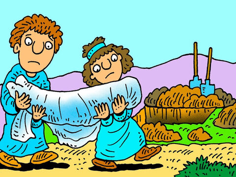 Then Sapphira also fell down and died and they buried her next to her husband. Everyone who knew about Ananias and Sapphira remembered not to tell lies. – Slide 8