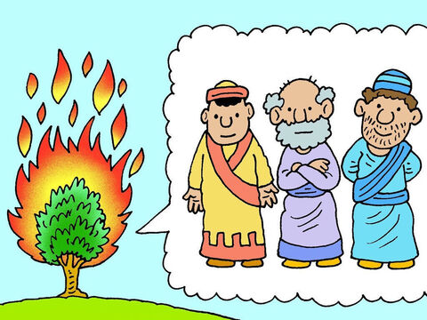 God told Moses that He was the God of Abraham, Isaac and Jacob. He wanted Moses to go and tell Pharaoh to stop making the Jews his slaves and let them go to a land God had promised for them. – Slide 7