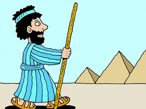 Moses listened and obeyed when God called him to lead the children of Israel out of slavery in Egypt, through the wilderness, to the land He promised them. – Slide 8