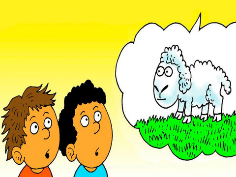 God saw how much Abel loved the lamb and that he had given the best he had as a present to God. – Slide 3