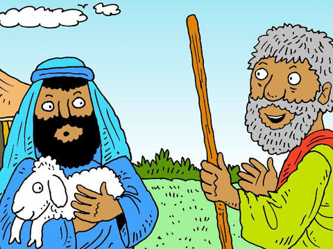 Samuel went to find Jesse. 'Call your sons together and we will make an offering to God,' he said. 'One of your sons will have God's blessing today.' – Slide 3