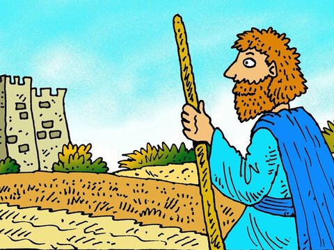 For three years there was no rain. King Ahab's prophets prayed to Baal, but no rain came. Then God told His prophet Elijah to go and see his enemy, King Ahab. – Slide 2