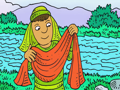 Elisha picked up the cloak. He prayed that God would be with him. Elisha went to tell people about God. – Slide 6