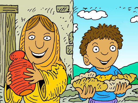 Until the rain came and the corn and wheat grew, there was always oil in her jar and flour for bread. – Slide 6