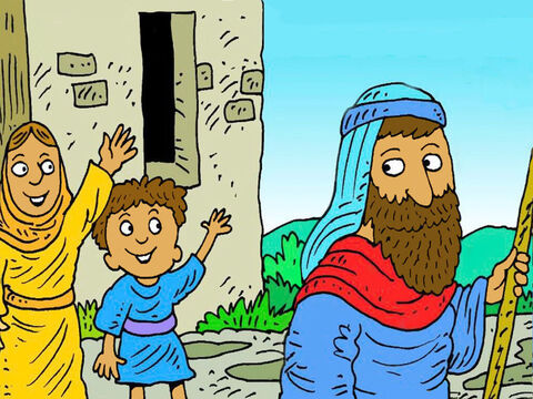 Then Elijah went back home. In the Bible we can read how God looked after them. God will look after you, too. – Slide 7