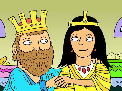 The king ordered that Haman be killed. Now the Jews were safe and Queen Esther was safe too. – Slide 8