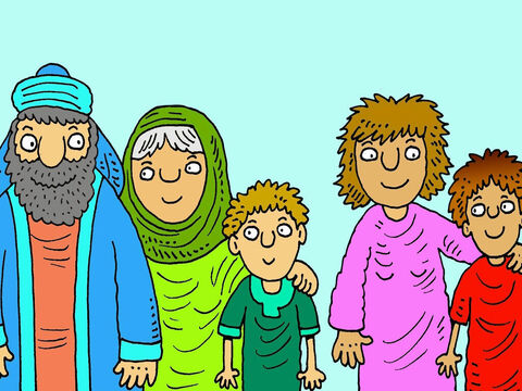 Abraham had two sons. The youngest boy Isaac was born to his wife Sarah, and the older boy Ishmael, was born to Hagar, his wife Sarah's Egyptian maid. – Slide 2