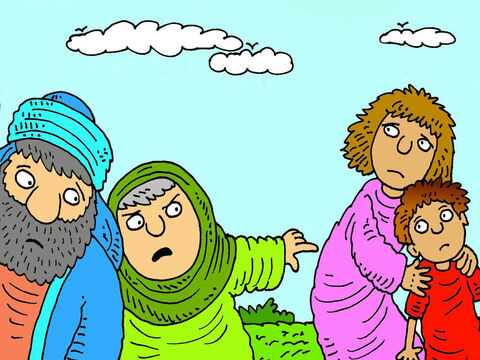 Sarah was jealous of Abraham's first born son and when she saw Ishmael mocking Isaac, she told her husband to send Hagar and Ishmael away. – Slide 3