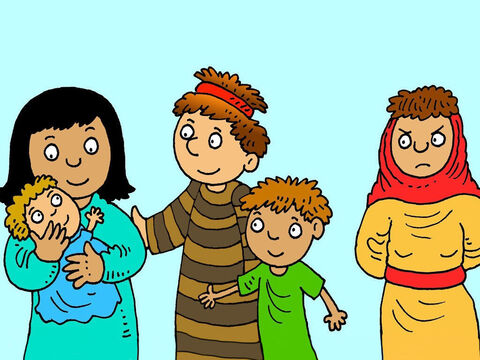 Rachel's maid Bilhah and Jacob had two sons, Dan and Naphtali. When Rachel saw how much Jacob loved his sons she felt very sad. She prayed to God for a child of her own. – Slide 4