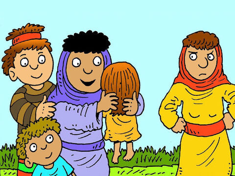 Leah and Jacob had two more boys, Issachar, Zebulon and a daughter named Dinah. Jacob really loved his children. Poor Rachel still had no child of her own. – Slide 6