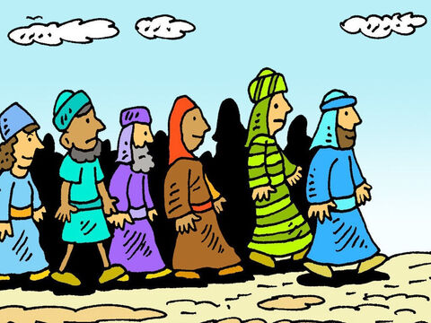 It was no use Jesus going now. But Jesus kept walking. A crowd followed to see what He would do. – Slide 4