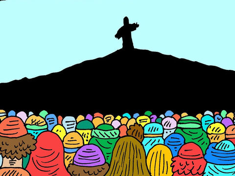 Not long after, Jesus was seen by a big crowd of more than five hundred of His friends and followers at once! They all saw Him alive and believed! – Slide 7
