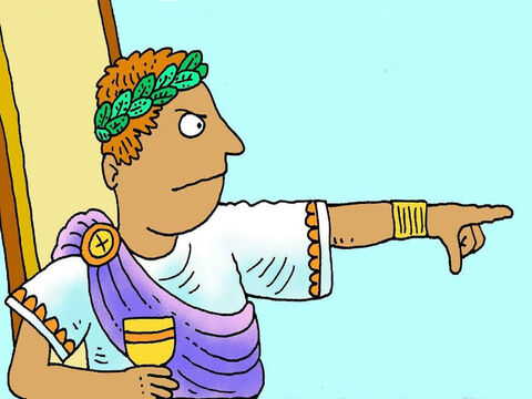 The emperor Augustus wanted more tax money. He made a new law that everyone was to go to the town their ancestors came from to put their names on a list, so Joseph the Carpenter had to go to Bethlehem. – Slide 3