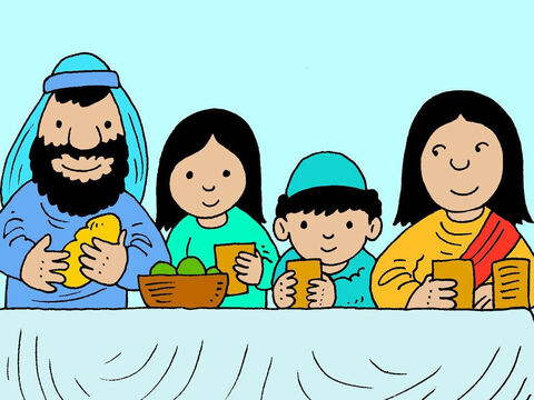 They lived in the village of Nazareth and would often have family and friends come to visit. Sharing happy times with them was important. – Slide 3