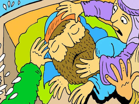 'Jesus wake up! Help us! The waves are too big, and we are not safe!' they shouted. – Slide 5