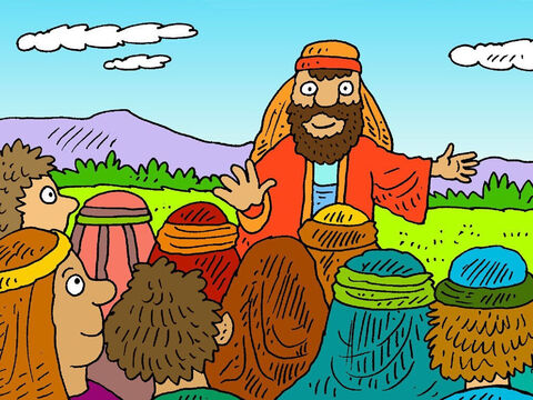 God told Moses that it was time for the children of Israel to go to the good land He had promised their ancestors. 'Choose twelve men to spy out the land,' God said. – Slide 2