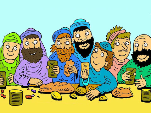 Judas Iscariot was one of the twelve disciples Jesus chose. He looked after the money bag of coins Jesus gave away to very poor people who could not work. – Slide 2