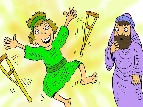 Judas saw many miracles. When Jesus touched them, blind people could see, lepers were healed and people who had never walked, stood up and jumped for joy. – Slide 3