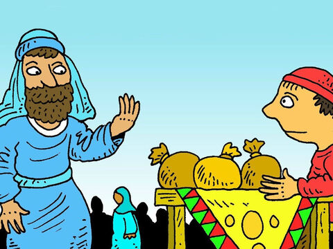Jesus saw Matthew working at his table. He came right over to talk to him. 'Matthew, come and follow me,' Jesus said. Matthew was so surprised! No-one liked tax collectors as they were such cheats. – Slide 5